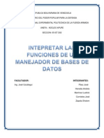 Manejador de Base de Datos
