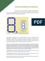 Conceptos básicos de un display de 7 segmentos
