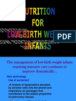 Nutrition for Low Infant Birth