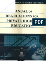 Manual of Regulations for Private Higher Education