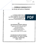 Rural Urban Migration (Study of Lahore).pdf