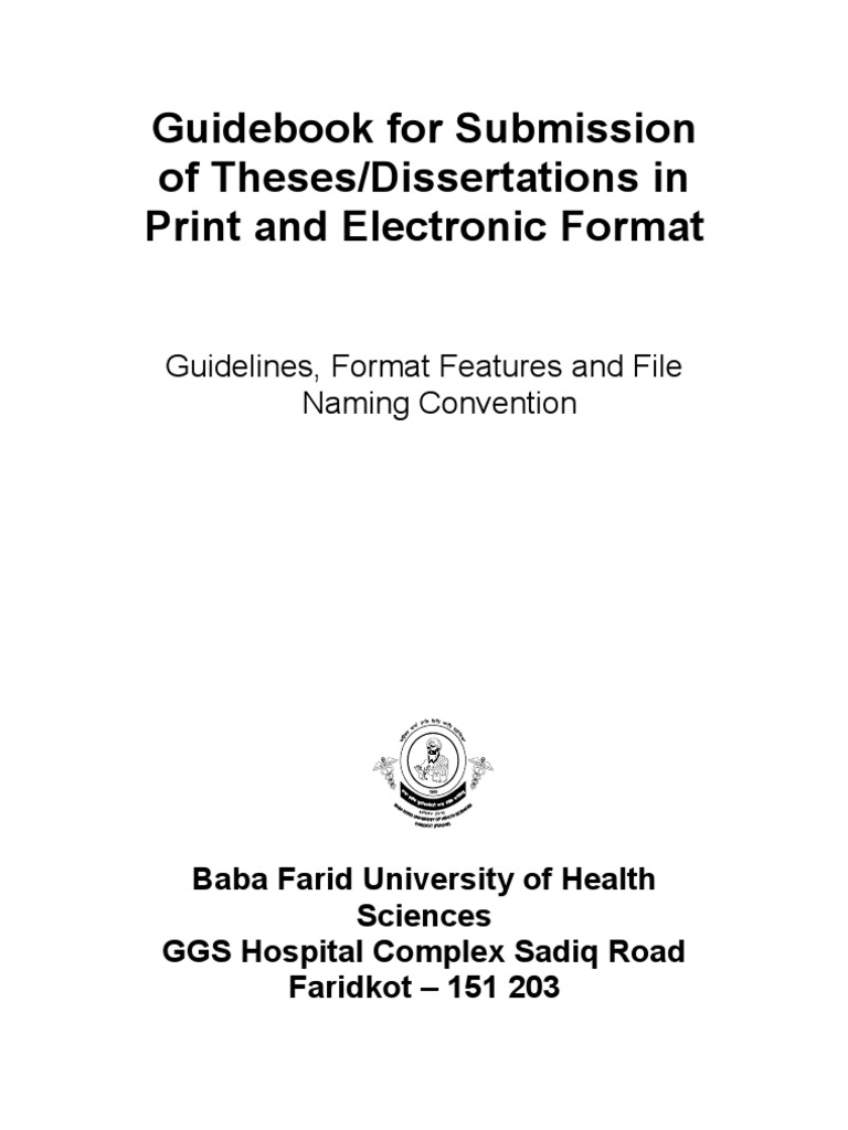 format of theses of bfuhs thesis citation