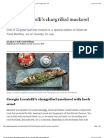 Chargrilled Mackerel Recipe