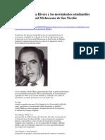 Arriaga Rivera y Los Movimientos Estudiantiles en La UMSNH