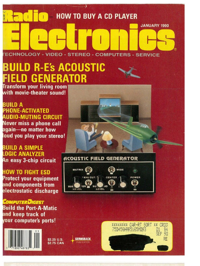 Radio Electronics January 1990 Television Hertz Electronic Insect Repellent Circuit Free Circuits 8085