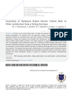 Generation of Optimised Hybrid Electric Vehicle Body in White Architecture from a Styling Envelope