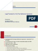 The Legal Framework of the Settlement Agreement Key Concpets and Approaches Compatibility Model