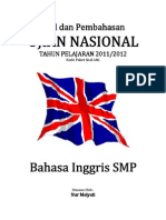 Pembahasan Soal UN Bahasa Inggris SMP 2012 (Paket Soal A86).pdf