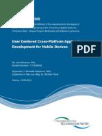 User Centered Cross-Platform Application Development for Mobile Devices