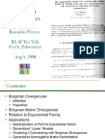Bregman Divergences 08-05-2008