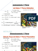 Dimensionamento Atuadores Hidraulico e Pneumatico