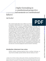 CHOUDHRY, Sujit - Ackerman's Higer Lawmaking in Comparative Constitutional Perspective