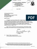 DM B8 Team 8 Fdr- 7-25-03 Arlington Co Fire Dep Document Request Response 522