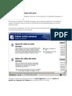 Configuration Serveur 2003
