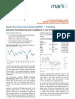Markit Eurozone Manufacturing PMI 1st Aug 2013