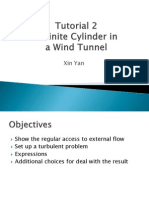 A Finite Cylinder in a Wind Tunnel