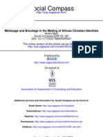 Mary. Métissage and bricolage in the making of african christian identities.