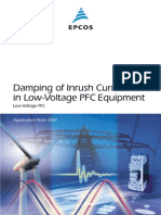 Damping of Inrush Current in Low Voltage PFC Equipment