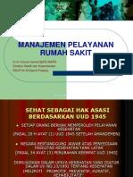 Manajemen Pelayanan RS