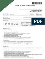 Prova I09 Tipo 001 - Prova TRT12 - 2013