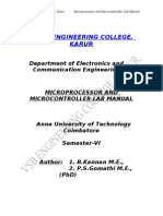 Microprocessor and Microcontroller Lab Manulal