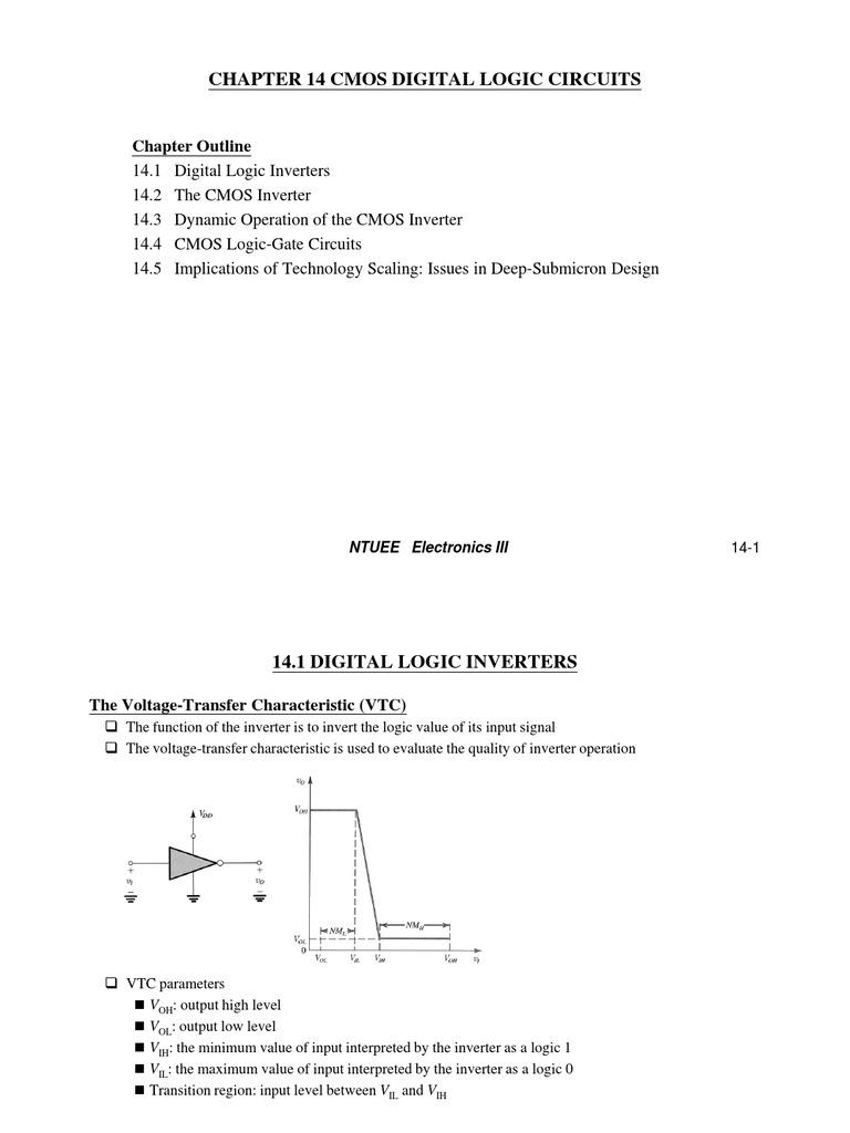 Cmos Digital Logic Circuits Electronic Design And Gate Circuit