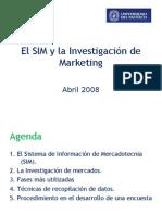 El SIM y la Investigación de Marketing