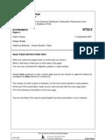 NJC 2007 Prelim H2 P2 Qn Paper