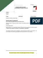 PJC 2007 Prelim H2 P1 Qn Paper