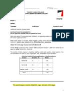 PJC 2007 Prelim H2 P2 Qn Paper