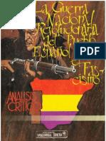 La Guerra Nacional Revolucionaria Del Pueblo Espanol Contra El Fascismo
