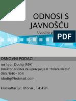 Uvodna prezentacija PR