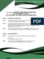 Mockboard Examination 2013 (2)