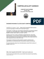 Fall 2013 Internship Prgoram at Ulster County Comptroller