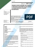 ABNT NBR 13792 - Protecao Contra Incendio Por Sistema de Chuveiros Automaticos Para Areas de Armazenamento Em Geral - Procedimento