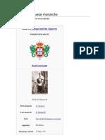 List of Portuguese Monarchs