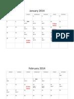 FHS 2013-14 School Schedule