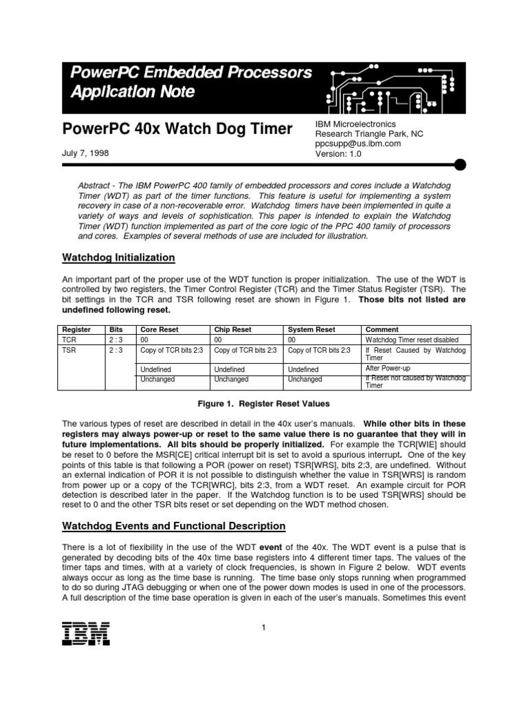 Ibm 03310107 Timer Electronic Circuits Watchdog