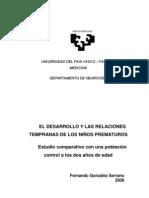 PASO VASCO - EL DESARROLLO Y LAS RELACIONES TEMPRANAS DE LOS NIÑOS PREMATUROS