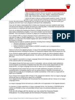 호주 La Lingua 시드니 Guide for Student Assessment Appeals