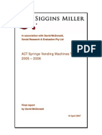Evaluation of a trial of syringe vending machines in Canberra, ACT, Australia