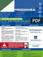 PRODINSA Guia Usuario 2013