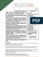 July 2013 Burma Bulletin