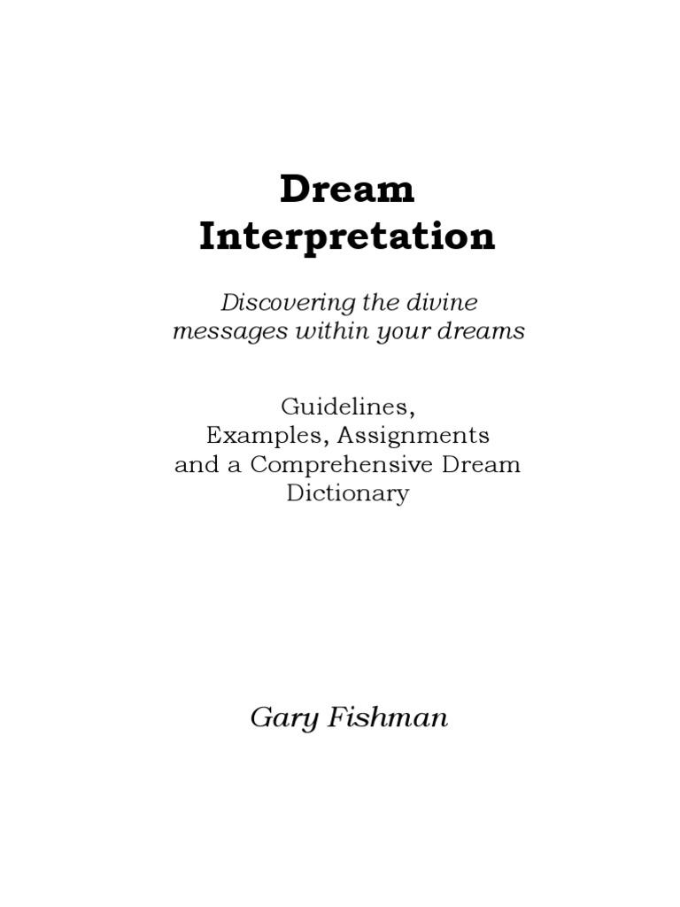 Dream Interpretation And Dictionary Dream Revelation