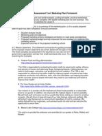 Marketing plan assessment