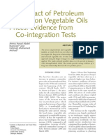 (2008) the Impact of Petroleum Prices on Vegetable Oils Prices