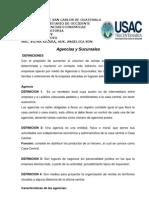 Documento de Apoyo Agencias y Sucursales