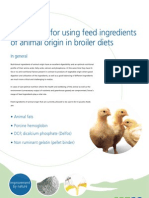 Arguments for Using Feed Ingredients of Animal Origin in Broiler Diets