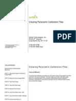 Creating Pan Calibration Files