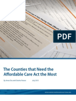 CAP Report - Counties That Need ACA the Most